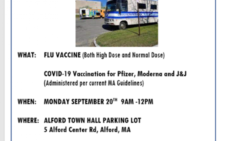 Flu clinic 9.20.2021 from 9AM - Noon